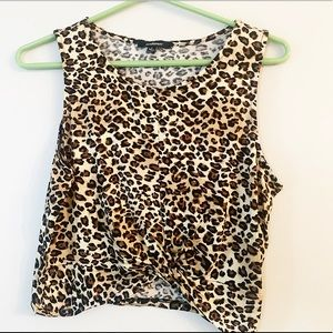 New Forever 21 leopard print tank top